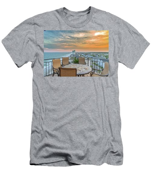 Garden City Beach View Men's T-Shirt (Athletic Fit)