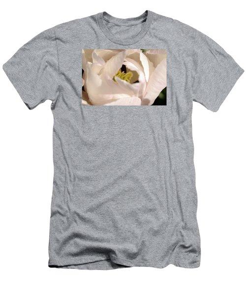 Men's T-Shirt (Slim Fit) featuring the photograph Garden Dance by Wanda Brandon