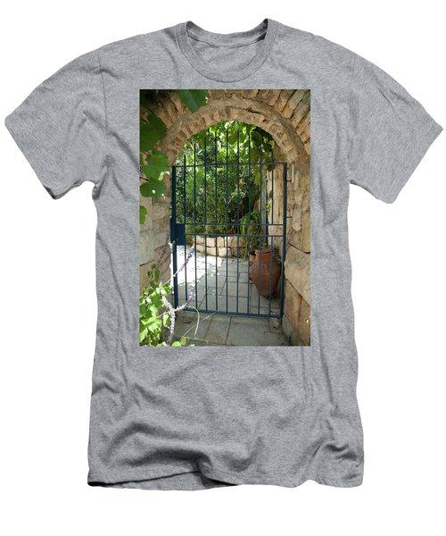 Garden Door Entrance Men's T-Shirt (Slim Fit) by Yoel Koskas