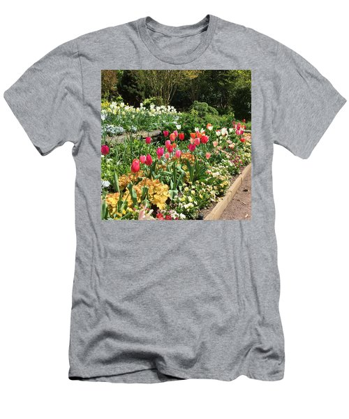 Garden Flowers Men's T-Shirt (Slim Fit) by Kay Gilley