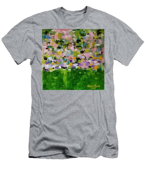 Men's T-Shirt (Athletic Fit) featuring the painting Garden Glory by Judith Rhue