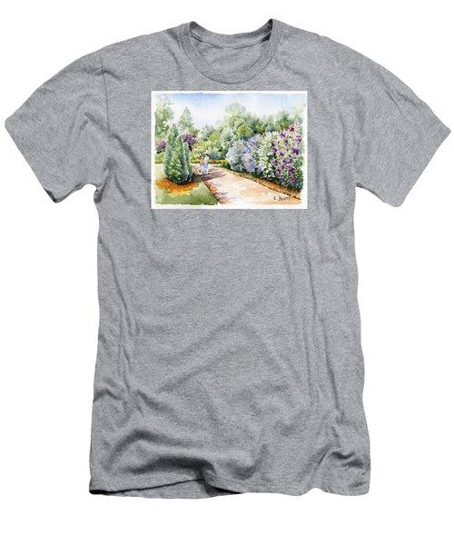Garden Lilacs Men's T-Shirt (Athletic Fit)