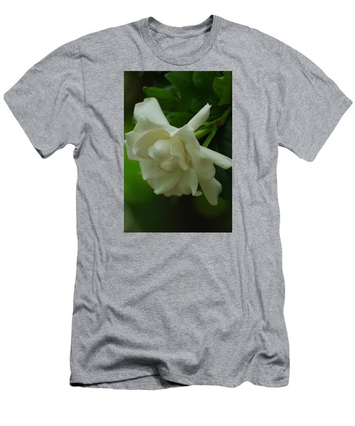 Men's T-Shirt (Slim Fit) featuring the photograph Gardenia by Ramona Whiteaker