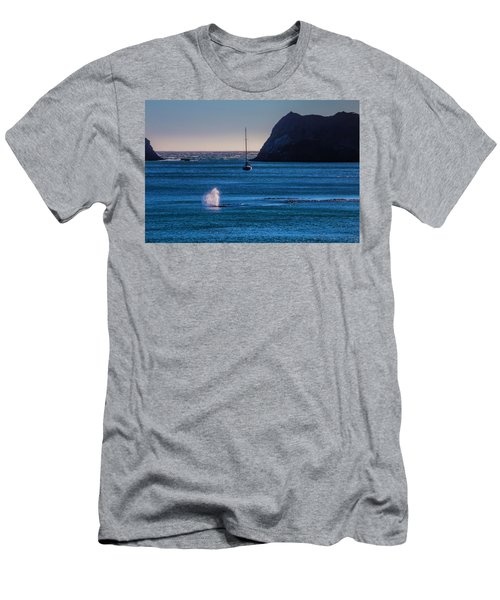 Gary Whale In Blue Water Men's T-Shirt (Athletic Fit)