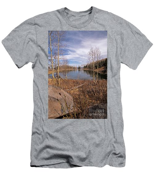 Gates Lake Ut Men's T-Shirt (Slim Fit) by Cindy Murphy - NightVisions