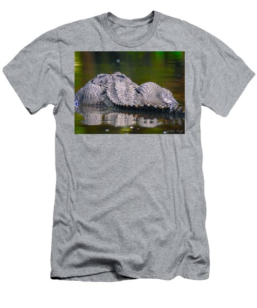 Gator On Ninja Cam Men's T-Shirt (Athletic Fit)