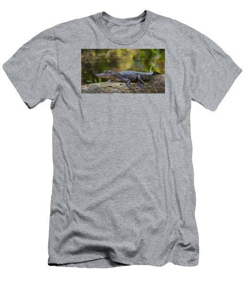 Gator Time Men's T-Shirt (Slim Fit) by Sean Allen