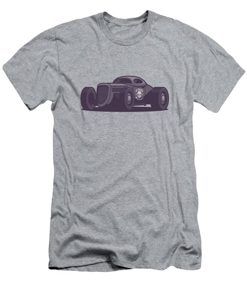 Gaz Gl1 Custom Vintage Hot Rod Classic Street Racer Car - Black Men's T-Shirt (Athletic Fit)