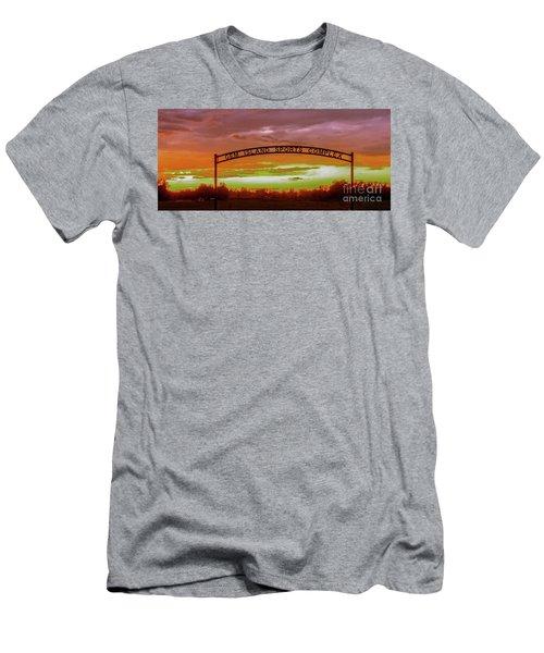 Gem Island Sports Complex Men's T-Shirt (Slim Fit) by Robert Bales