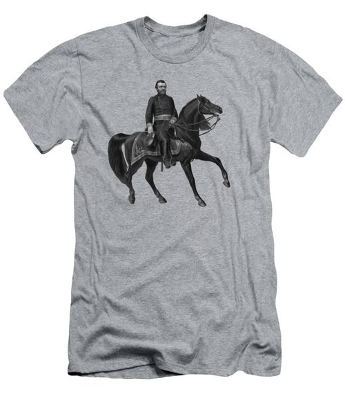 General Grant On Horseback  Men's T-Shirt (Athletic Fit)