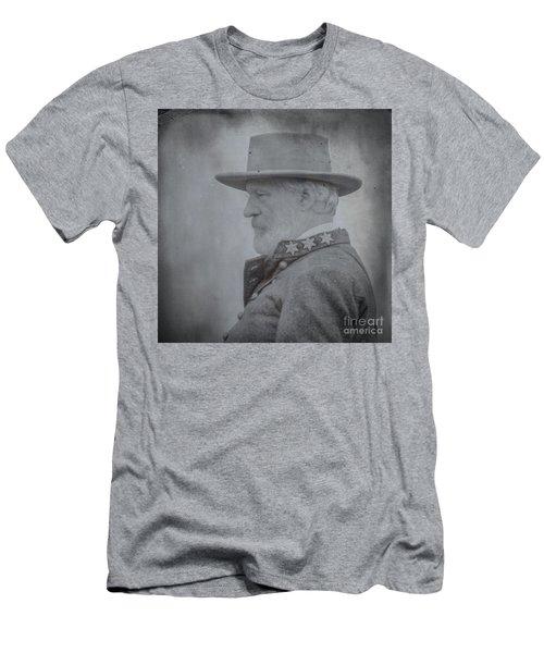 General Robert E Lee Portrait  Men's T-Shirt (Slim Fit) by Randy Steele