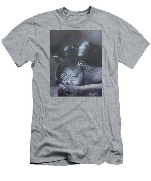 Gentle Caress Men's T-Shirt (Slim Fit) by Jean Yves Crispo
