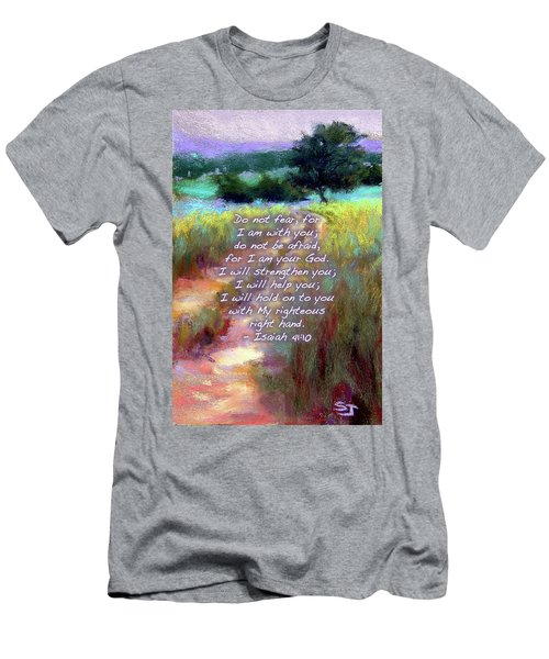 Gentle Journey With Bible Verse Men's T-Shirt (Athletic Fit)