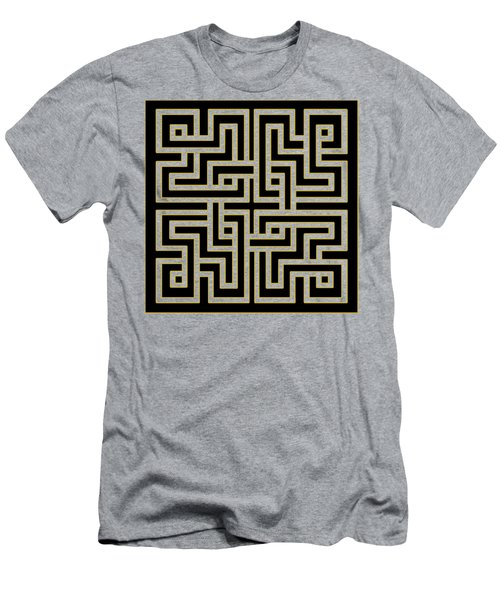 Men's T-Shirt (Slim Fit) featuring the digital art Geo Pattern 5 - Transparent by Chuck Staley