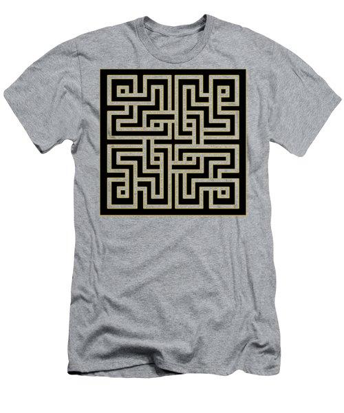 Geo Pattern 5 - Transparent Men's T-Shirt (Slim Fit) by Chuck Staley