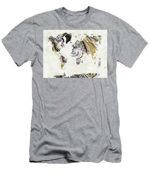 Geode Gem World Map Men's T-Shirt (Athletic Fit)