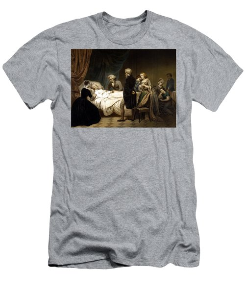 George Washington On His Deathbed Men's T-Shirt (Athletic Fit)