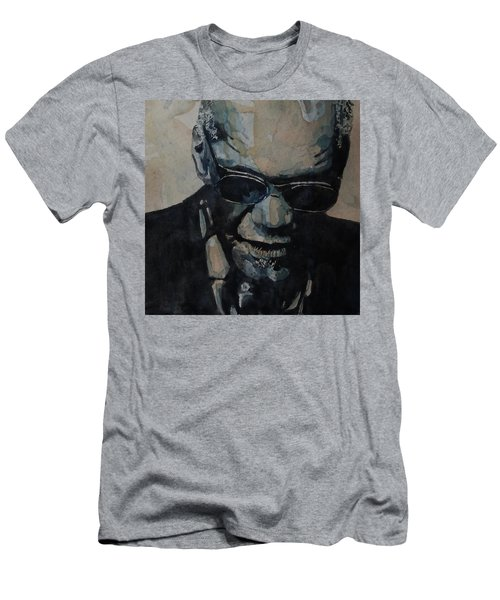 Georgia On My Mind - Ray Charles  Men's T-Shirt (Athletic Fit)