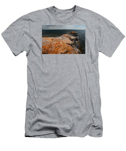 Georgian Bay Rocks Lichen-3675 Men's T-Shirt (Athletic Fit)