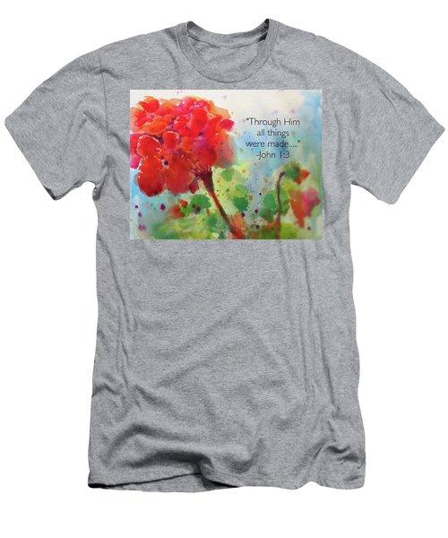 Geranium Praises Men's T-Shirt (Athletic Fit)