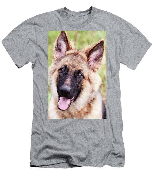 German Shepherd Dog Men's T-Shirt (Slim Fit) by Stephanie Frey