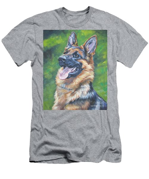 German Shepherd Head Study Men's T-Shirt (Athletic Fit)