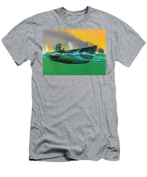 German Type Vii Submarine Men's T-Shirt (Athletic Fit)