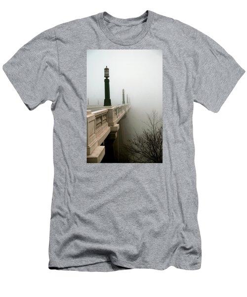 Gervais Street Bridge Men's T-Shirt (Slim Fit) by Skip Willits
