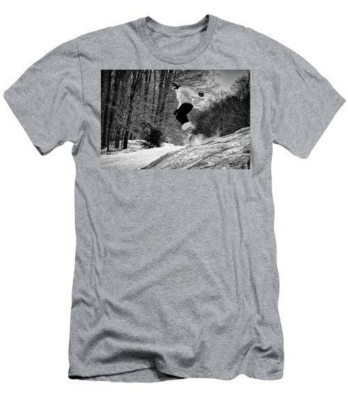 Men's T-Shirt (Slim Fit) featuring the photograph Getting Air On The Snowboard by David Patterson