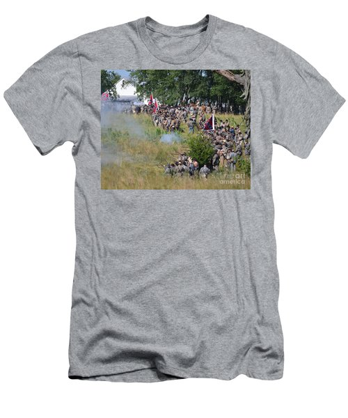 Gettysburg Confederate Infantry 8825c Men's T-Shirt (Athletic Fit)