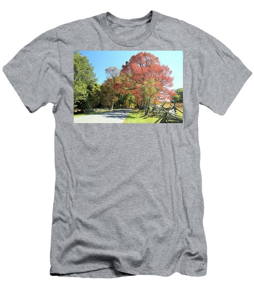 Gettysburg  In The  Fall Men's T-Shirt (Athletic Fit)