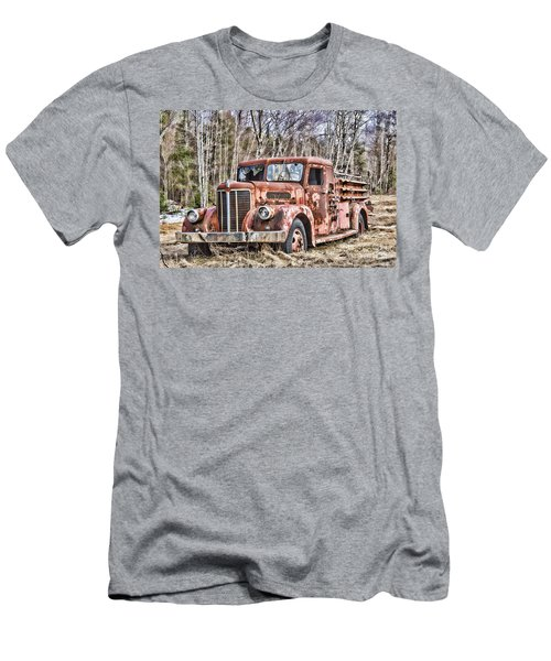 Ghost Fire Truck Men's T-Shirt (Athletic Fit)