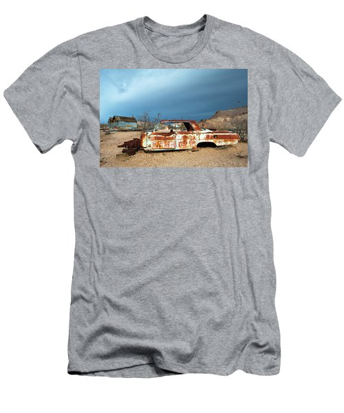 Men's T-Shirt (Slim Fit) featuring the photograph Ghost Town Old Car by Catherine Lau