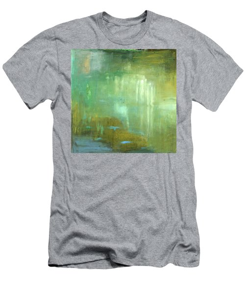 Men's T-Shirt (Slim Fit) featuring the painting Ghosts In The Water by Michal Mitak Mahgerefteh