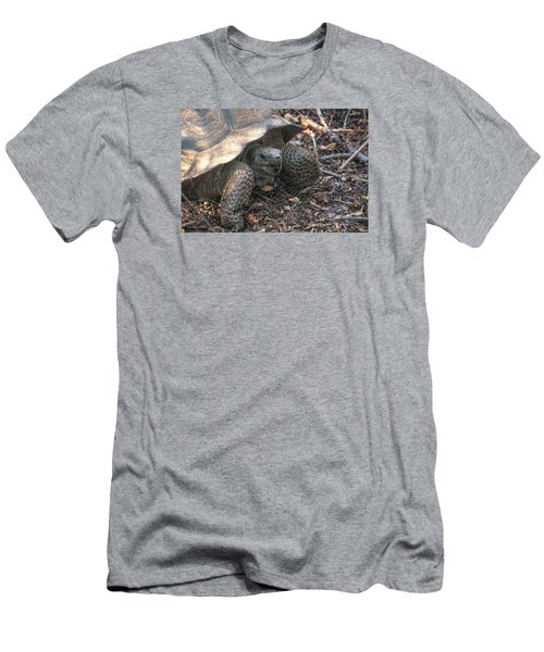 Giant Tortoise At Urbina Bay On Isabela Island  Galapagos Islands Men's T-Shirt (Athletic Fit)