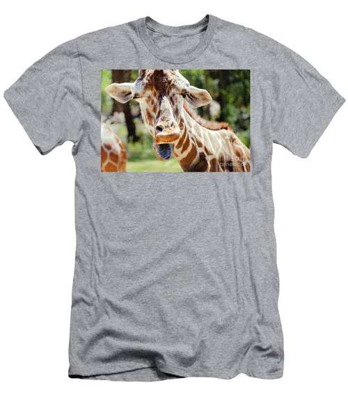 Men's T-Shirt (Athletic Fit) featuring the photograph Giraffe by Andrea Anderegg