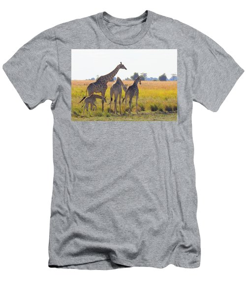 Men's T-Shirt (Slim Fit) featuring the photograph Giraffe Family by Betty-Anne McDonald