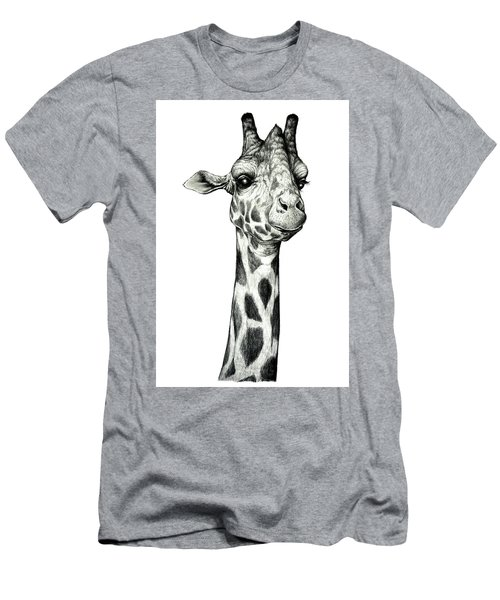 Giraffe Men's T-Shirt (Slim Fit) by Heidi Kriel