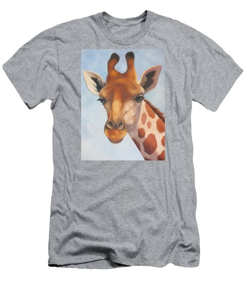 Giraffe Men's T-Shirt (Slim Fit) by Vivien Rhyan
