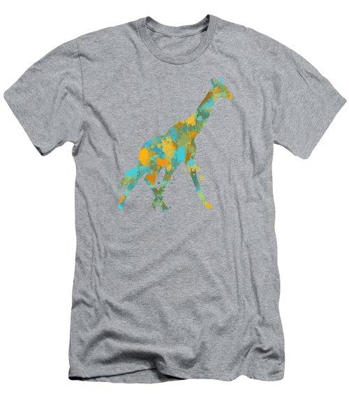 Giraffe Watercolor Art Men's T-Shirt (Athletic Fit)