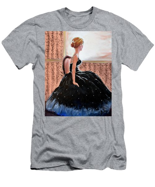 Men's T-Shirt (Slim Fit) featuring the painting Girl In The Sequin Gown by Gary Smith