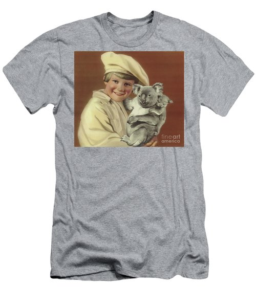Girl With Koala And Its Baby Men's T-Shirt (Athletic Fit)
