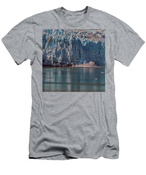 Men's T-Shirt (Athletic Fit) featuring the photograph Glacier Bay Ice Calving by Brenda Jacobs