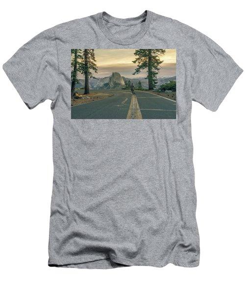 Glacier Point Adventure Men's T-Shirt (Slim Fit) by Alpha Wanderlust