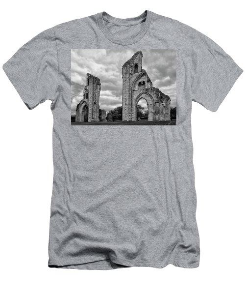 Men's T-Shirt (Slim Fit) featuring the photograph Glastonbury Abbey by Elvira Butler