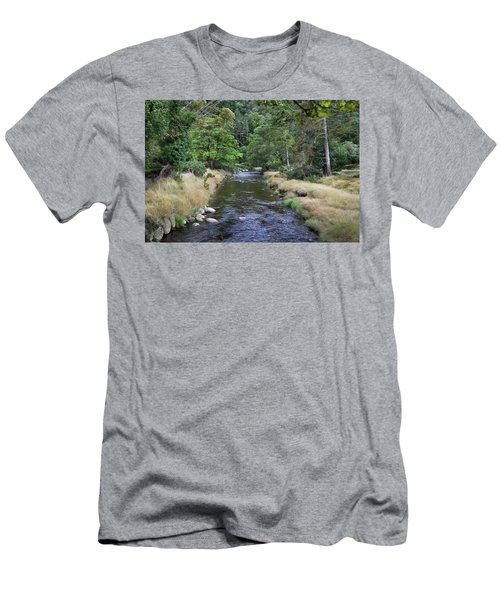 Men's T-Shirt (Slim Fit) featuring the photograph Glendasan River. by Terence Davis