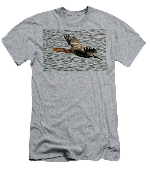 Gliding Cormorant Men's T-Shirt (Athletic Fit)