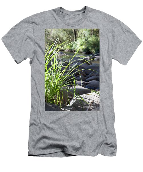 Men's T-Shirt (Slim Fit) featuring the photograph Glistening In The Sunlight by Linda Lees