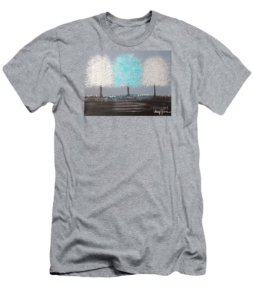 Men's T-Shirt (Slim Fit) featuring the painting Glistening Morning by Stacey Zimmerman