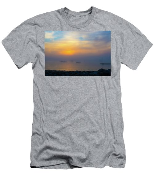 Gloucester Harbor Foggy Sunset Men's T-Shirt (Athletic Fit)